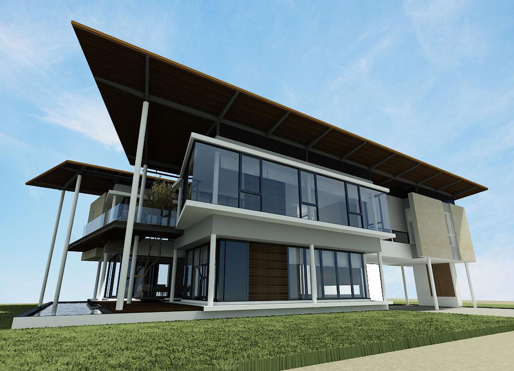 ออกแบบบ้านพักอาศัย2ชั้น สุขุมวิท กรุงเทพ