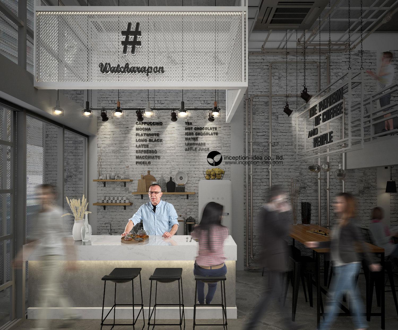 ออกแบบภายใน Hashtag Watcharapon Hostel