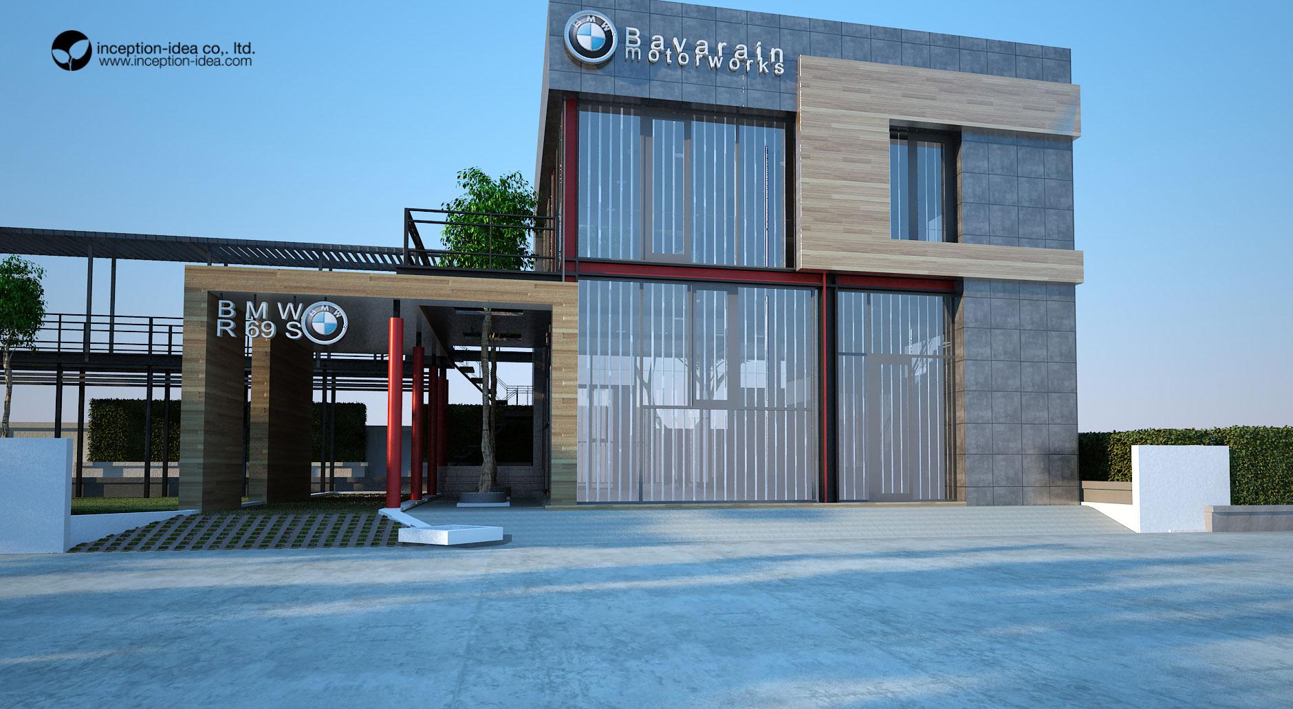 ออกแบบอาคารสะสมมอเตอร์ไซร์ BMW โบราณ ประชาชื่น กรุงเทพ
