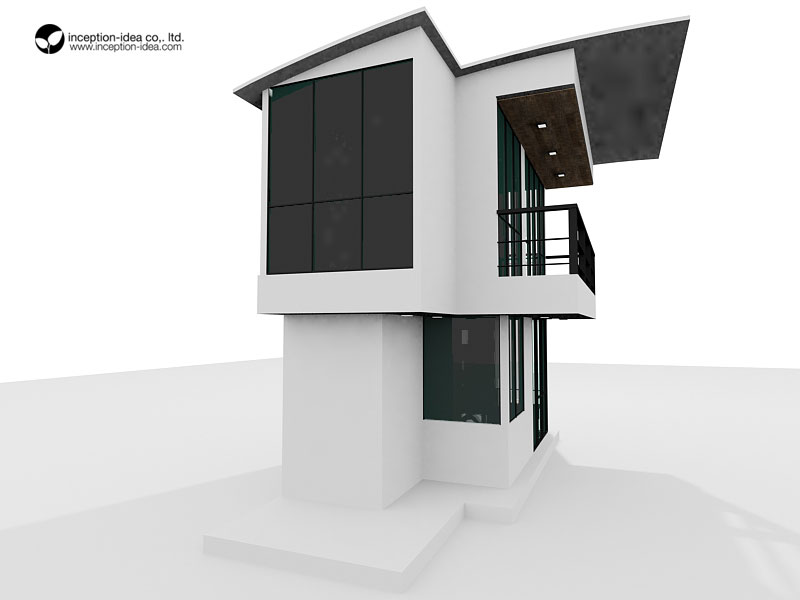 ออกแบบอาคาร2ชั้น หมู่บ้านการบินไทย แจ้งวัฒนะ กรุงเทพ